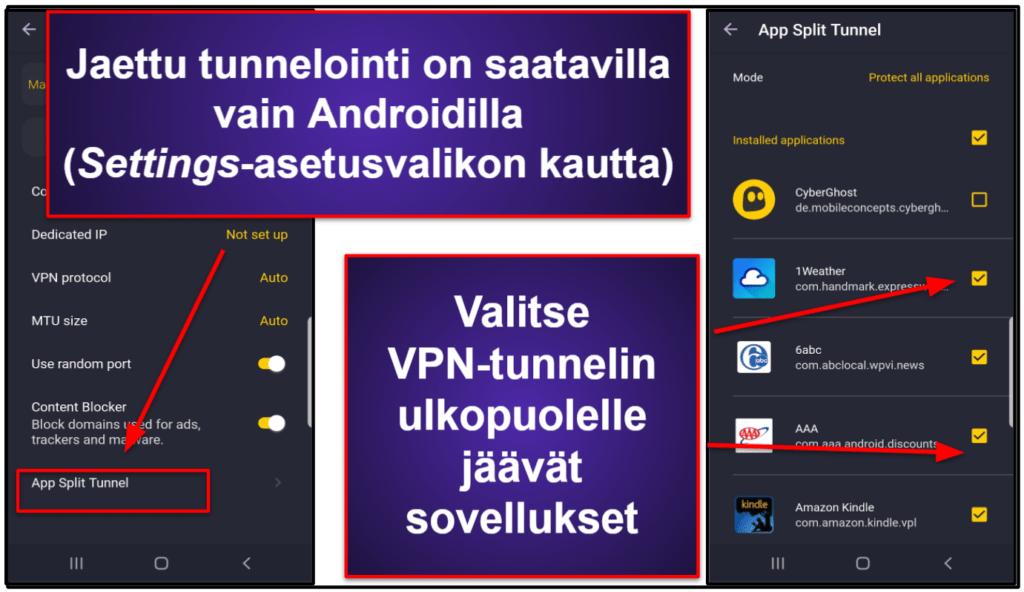 CyberGhost VPN Ominaisuudet