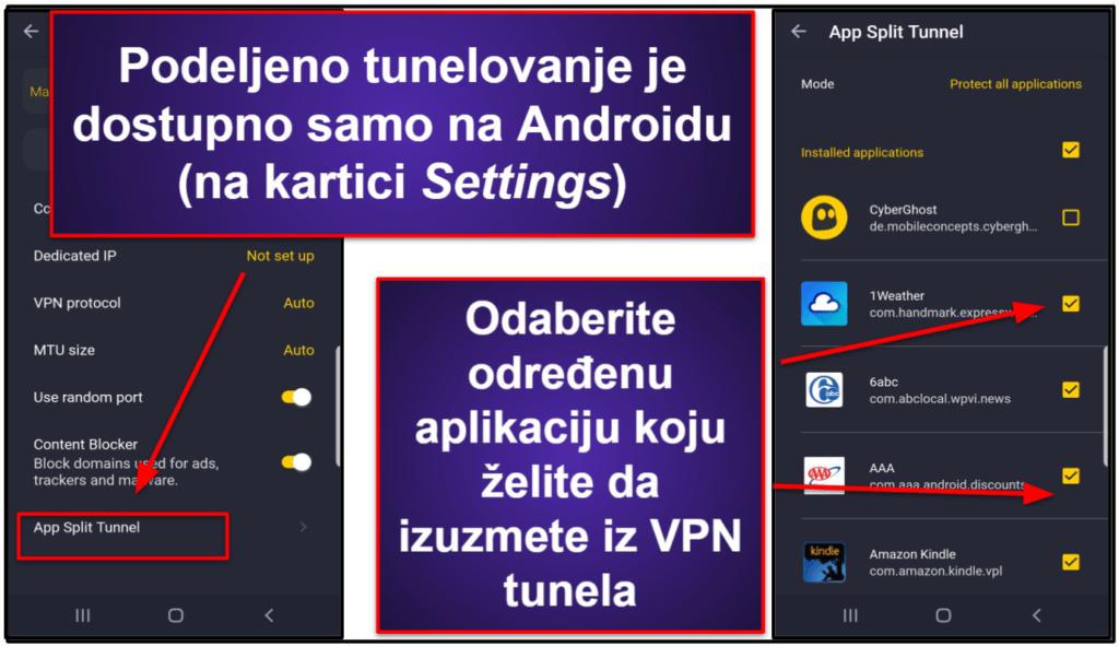 Funkcije CyberGhost VPN-a
