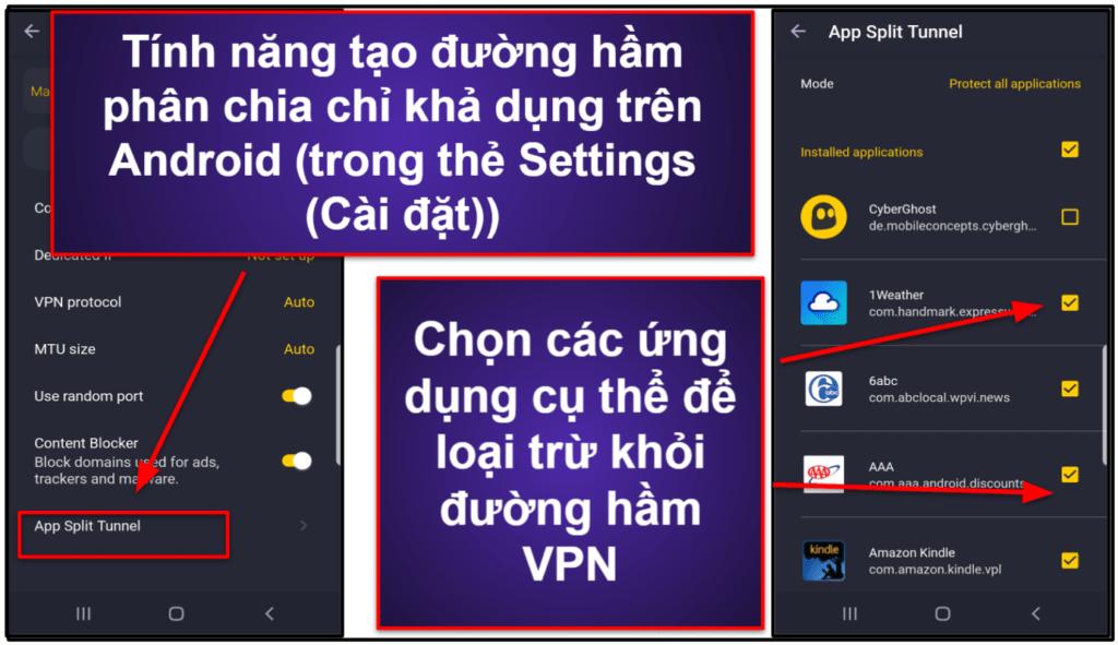 Các tính năng của CyberGhost VPN