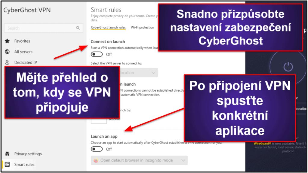 Funkce CyberGhost VPN
