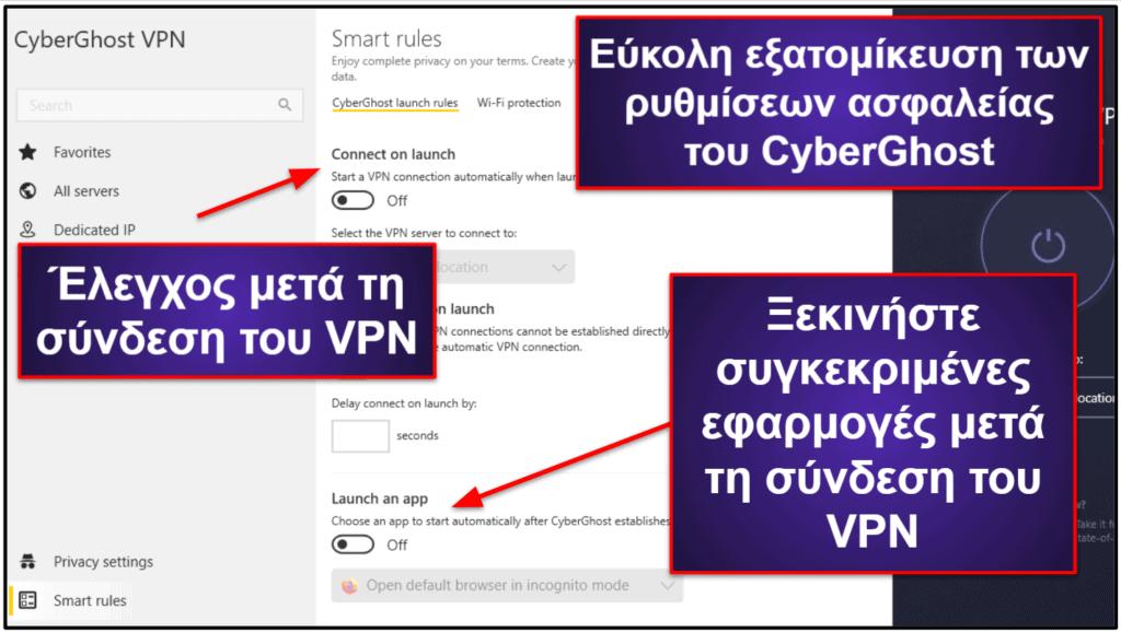 CyberGhost VPN – Χαρακτηριστικά