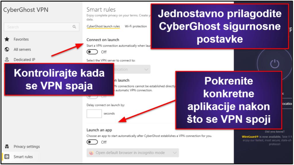 Značajke CyberGhost VPN