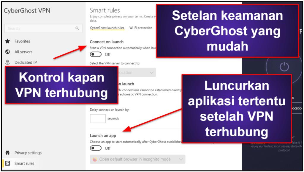 Fitur CyberGhost VPN