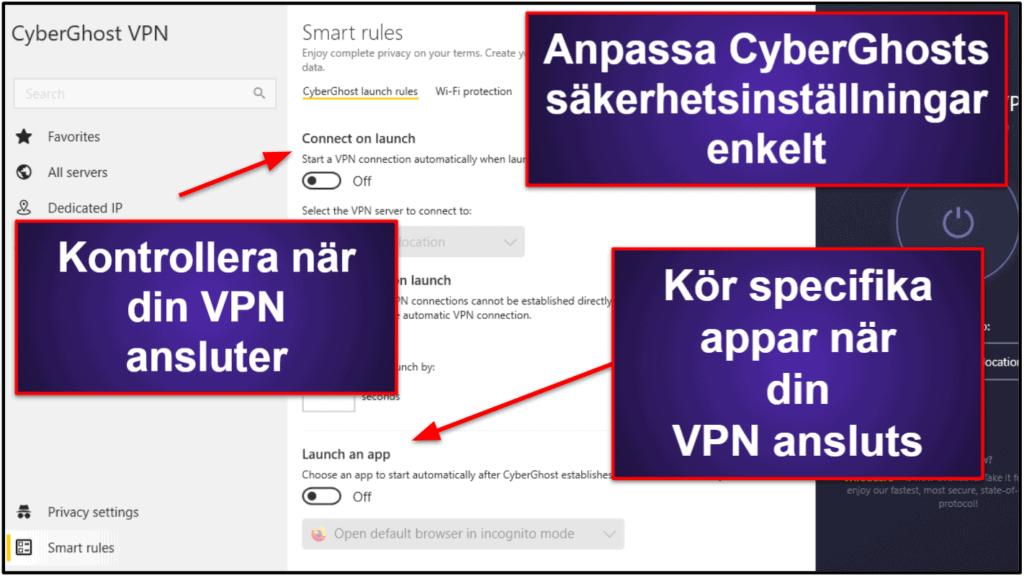 CyberGhost VPN – Funktioner