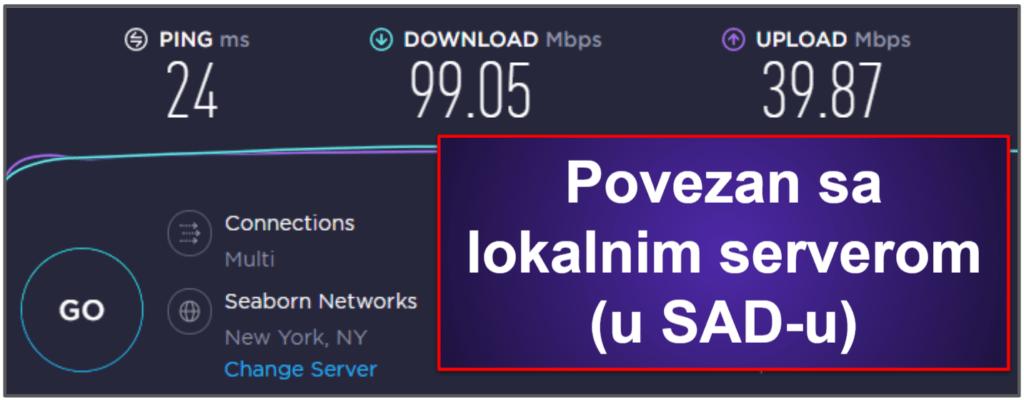 CyberGhost VPN brzina i performanse