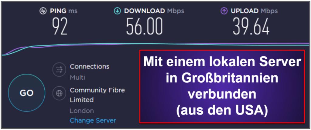 CyberGhost VPN Geschwindigkeit & Leistung