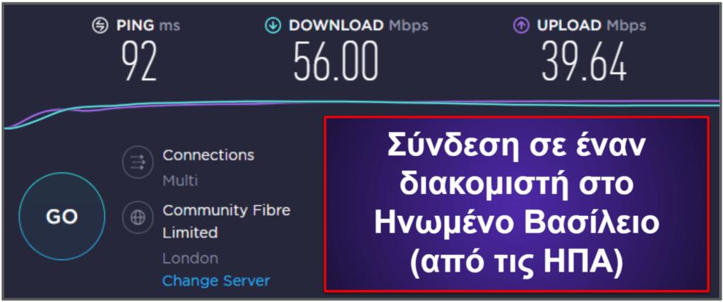 CyberGhost VPN – Ταχύτητα και Απόδοση
