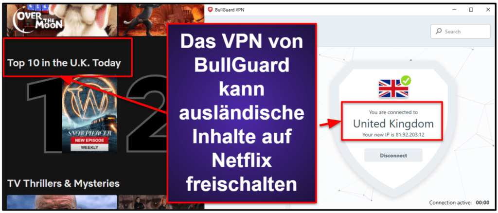 BullGuard Sicherheitsfunktionen