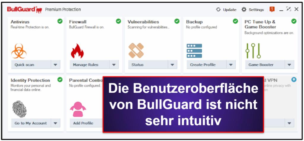 BullGuard Benutzerfreundlichkeit und Installation