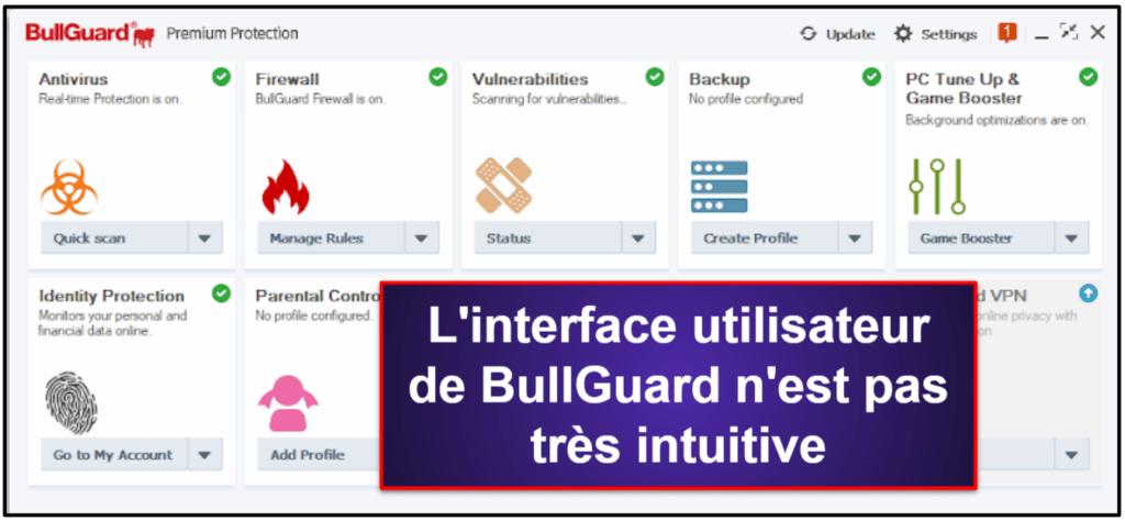 BullGuard: Facilité d'utilisation et de configuration