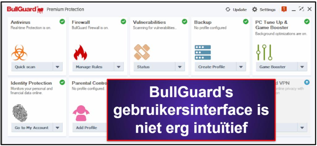 BullGuard gebruiksgemak en installatie