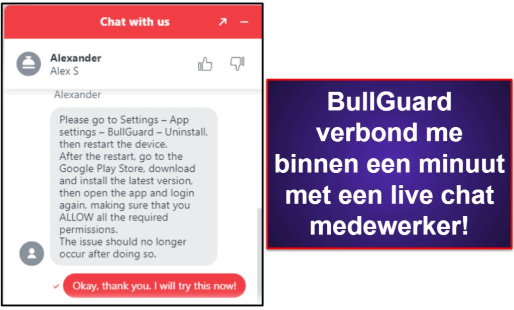 BullGuard klantenondersteuning
