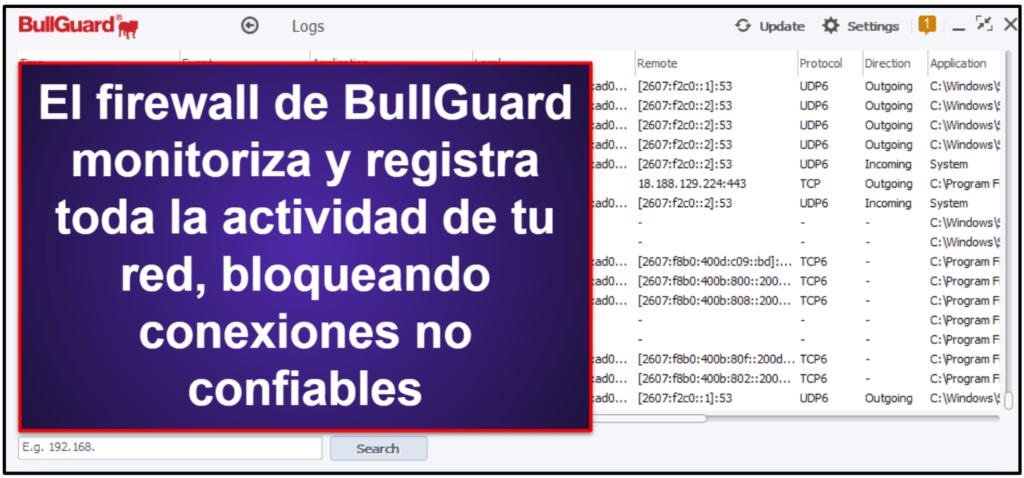 Características de seguridad de BullGuard