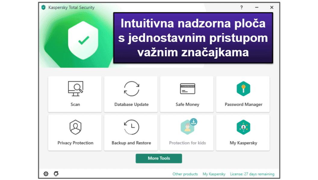 Kaspersky Jednostavnost uporabe i instalacija