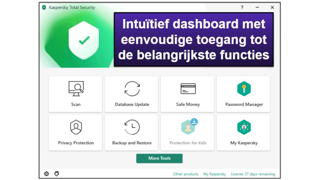 Kaspersky Gebruiksgemak en installatie