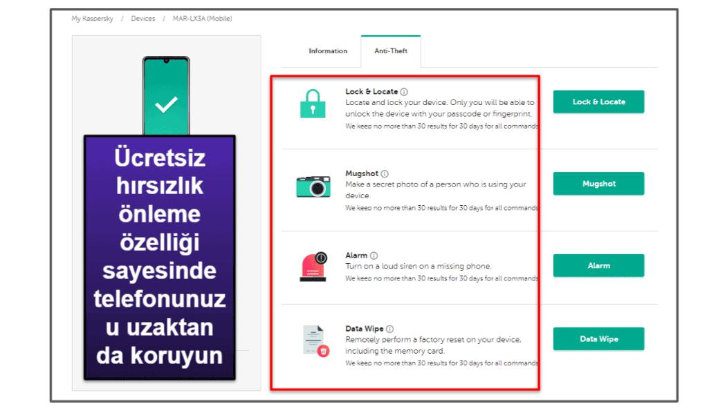 Kaspersky Mobil Uygulaması