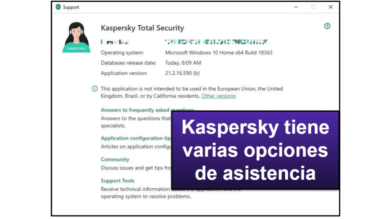Asistencia al cliente de Kaspersky