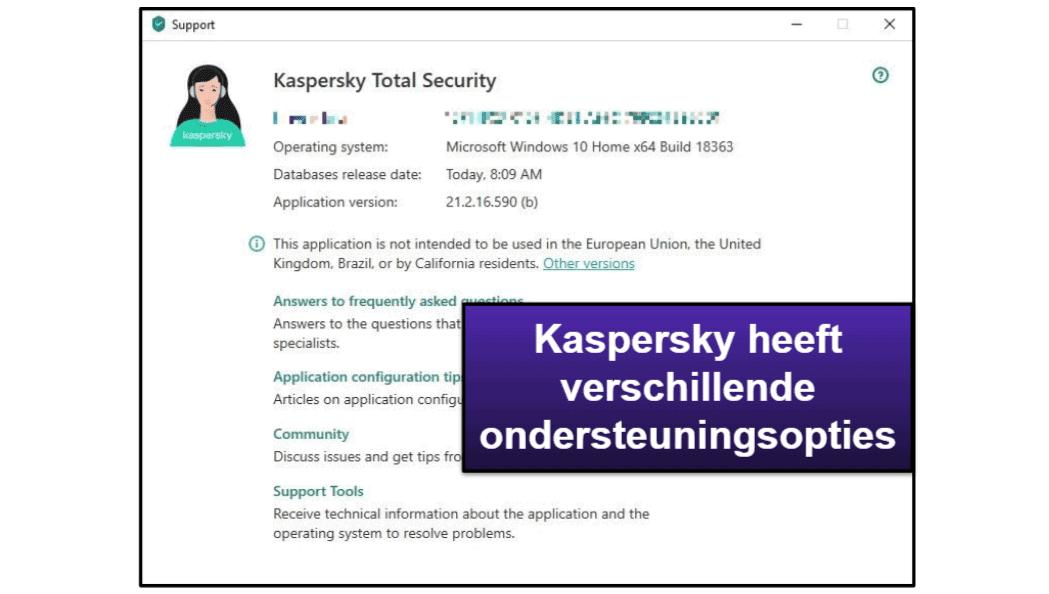 Kaspersky Klantenondersteuning