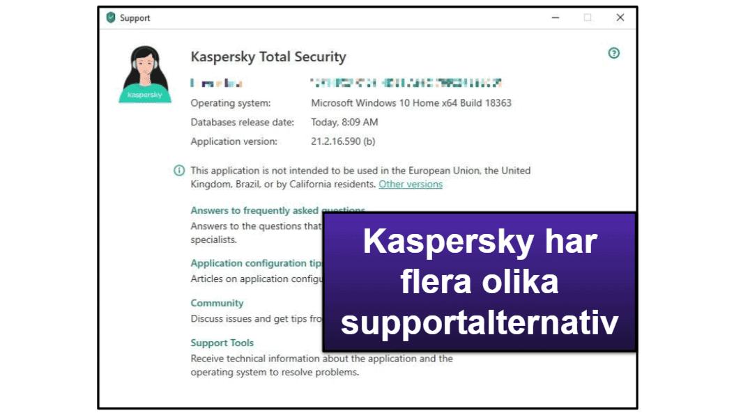 Kaspersky – Kundsupport