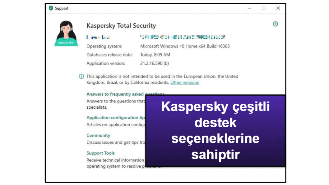 Kaspersky Müşteri Hizmetleri