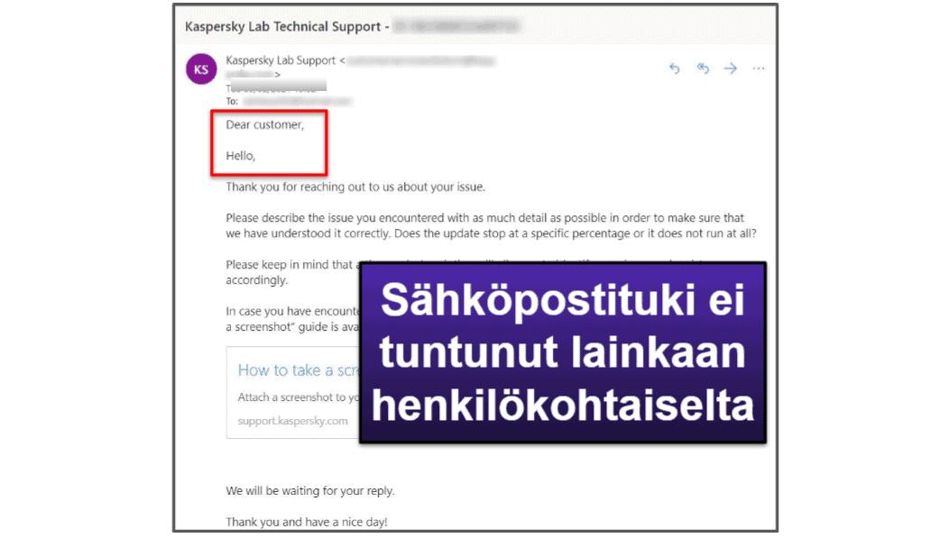 Kaspersky-asiakastuki