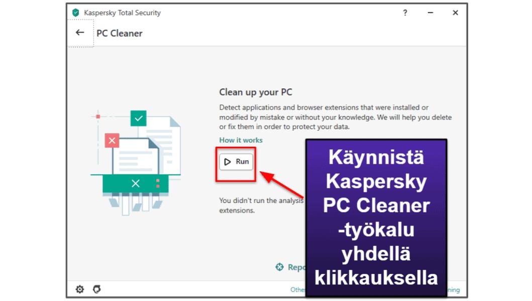 Kaspersky -turvatoiminnot