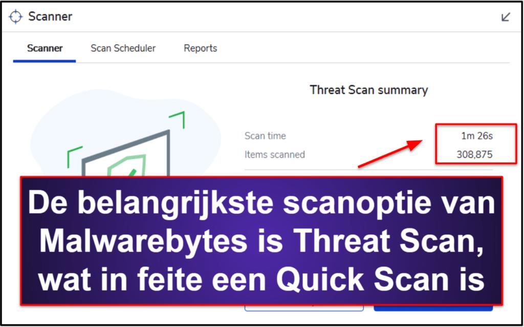 Malwarebytes beveiligingsfuncties