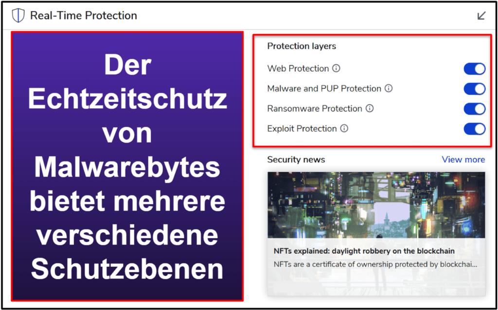 Die Sicherheitsfunktionen von Malwarebytes
