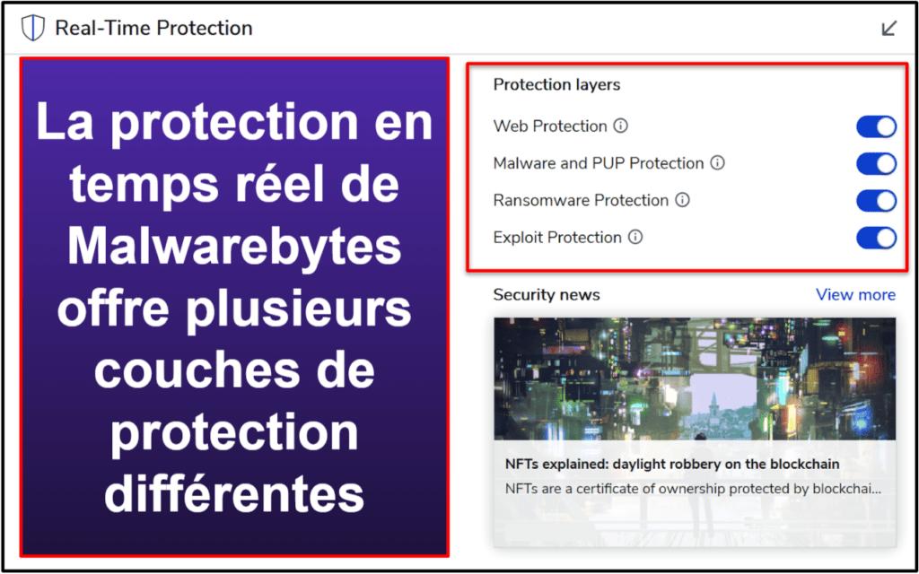 Recursos de Segurança do Malwarebytes