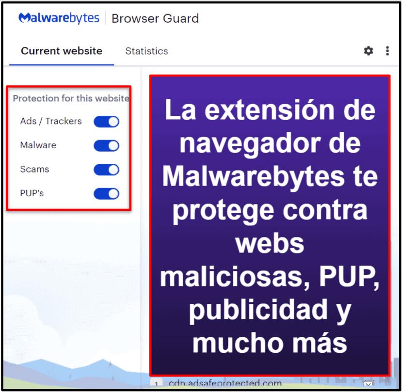 Funcionalidades de seguridad de Malwarebytes
