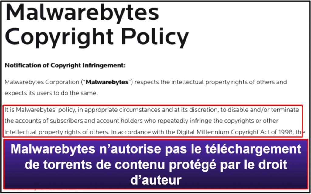Fonctions de sécurité de Malwarebytes