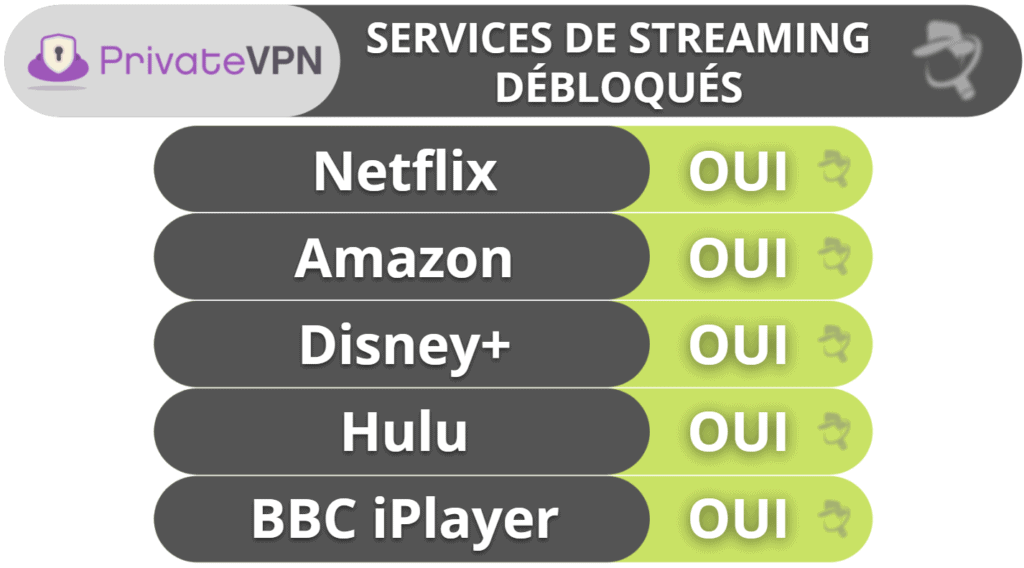 PrivateVPN: Streaming et torrents