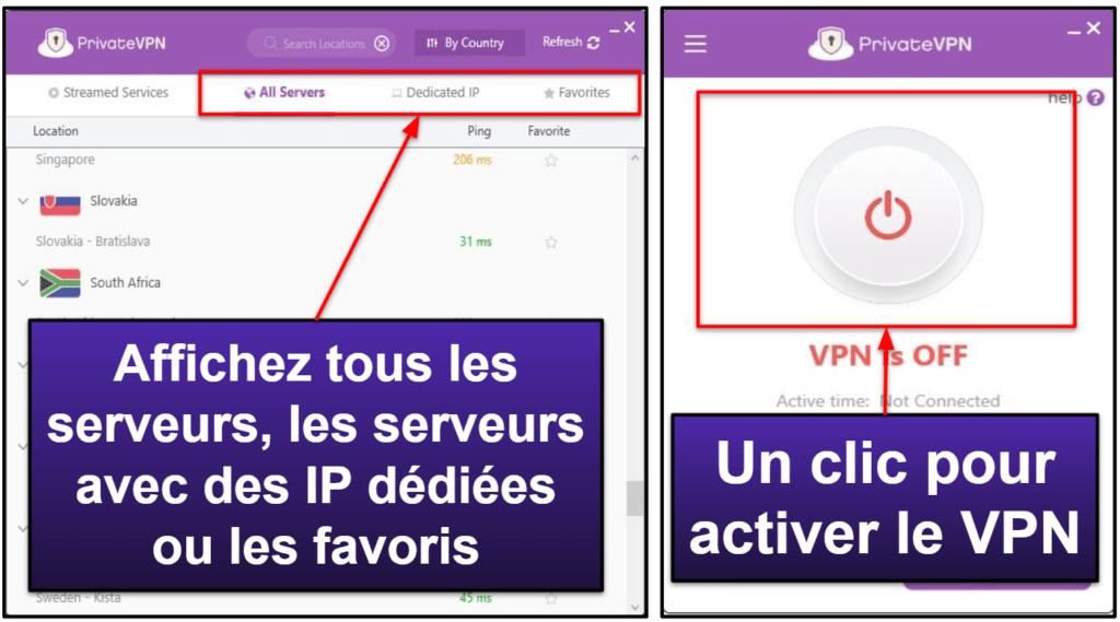 PrivateVPN : Facilité d'utilisation (applis mobiles et de bureau)