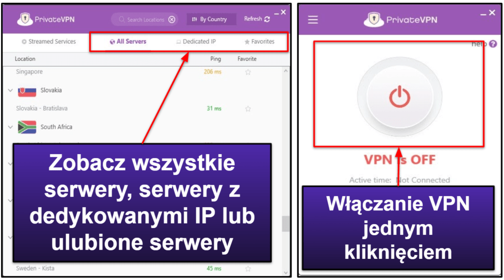 Łatwość użycia PrivateVPN: aplikacje desktopowe i mobilne