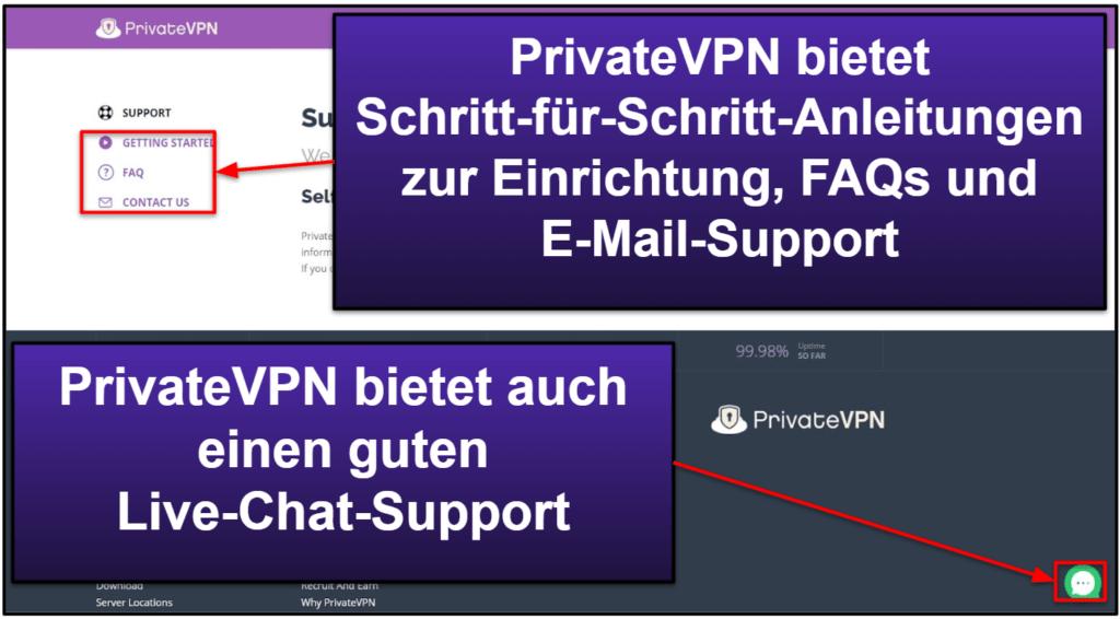PrivateVPN Kundensupport