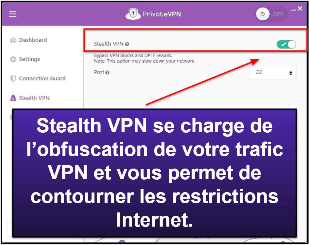 PrivateVPN: Fonctionnalités