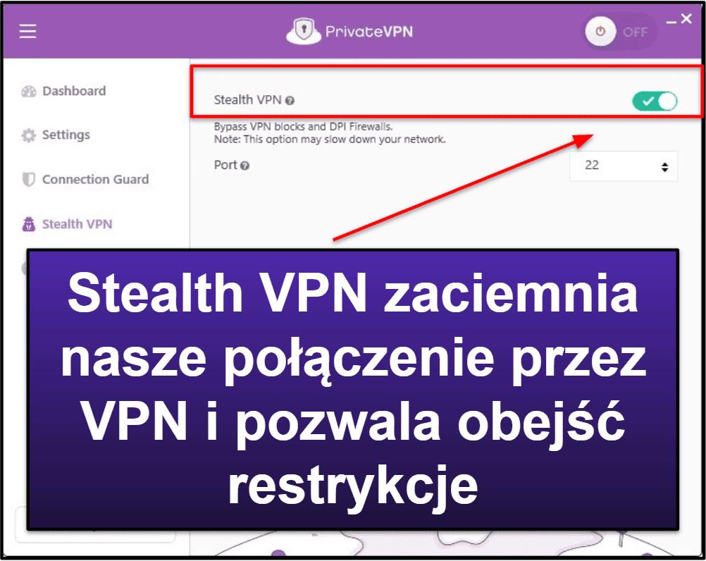 Funkcje PrivateVPN