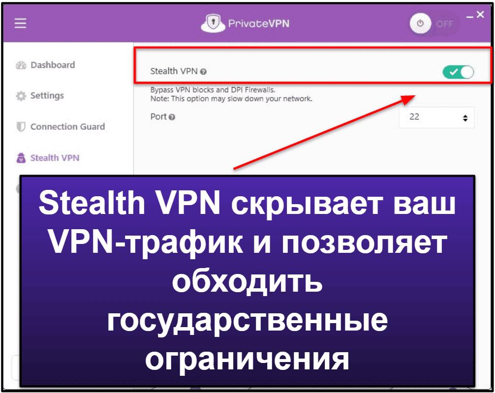 Функции PrivateVPN