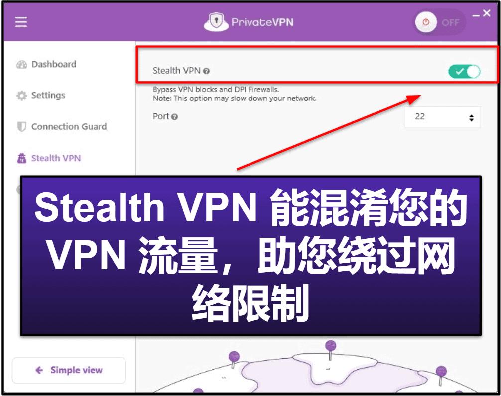 PrivateVPN 功能