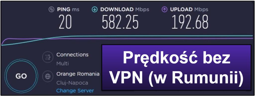 Prędkość i wydajność PrivateVPN