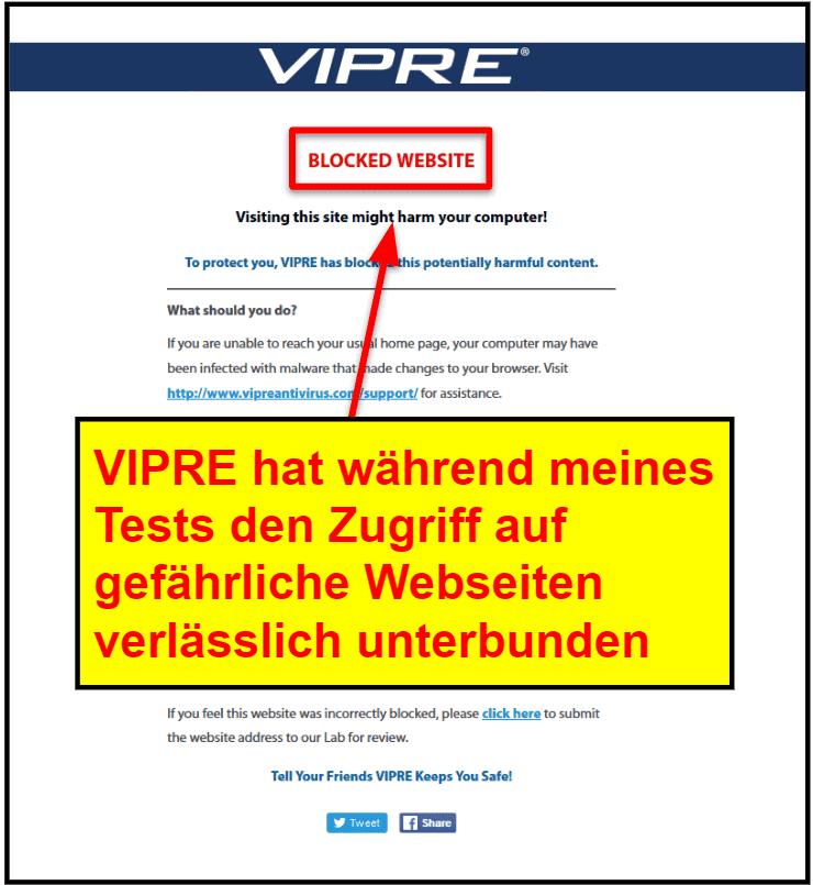 VIPRE Sicherheitsfunktionen