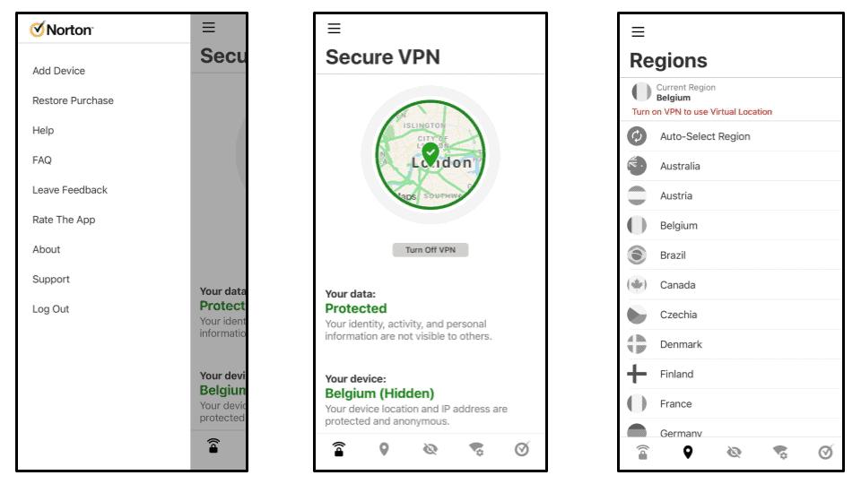 Norton Secure VPN Ease of Use: Mobile & Desktop Apps