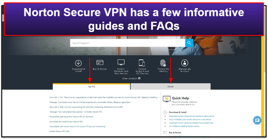 Norton Secure VPN Customer Support