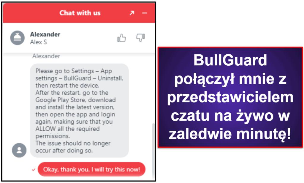 Wsparcie klienta BullGuard