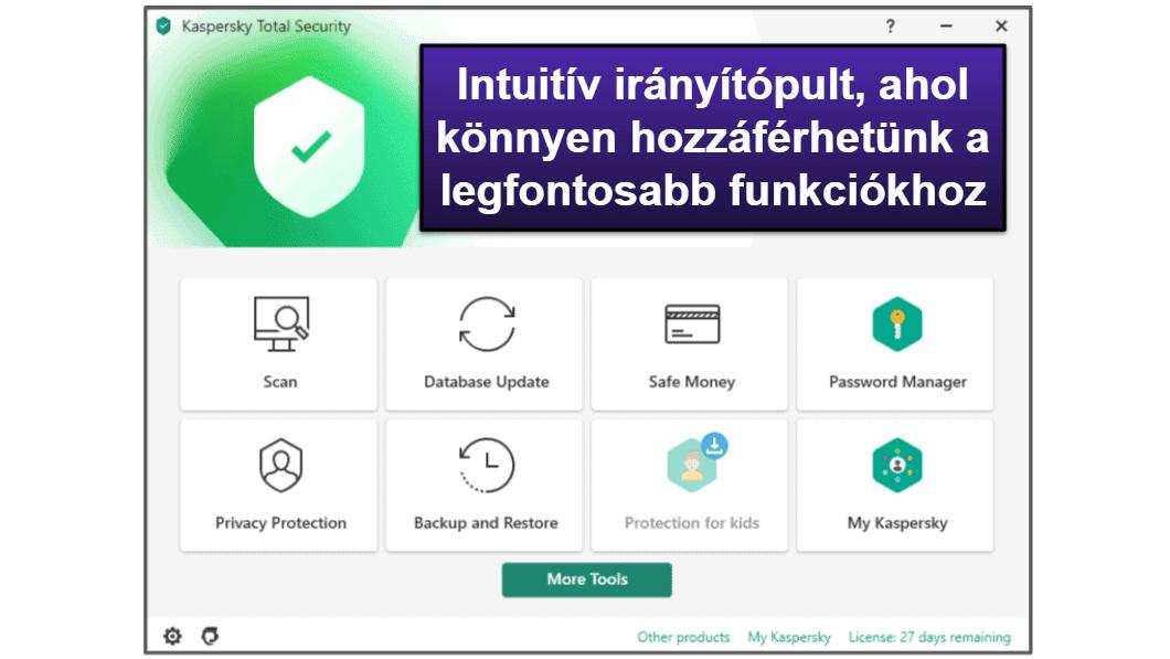 A Kaspersky felhasználói élmény & a konfigurálás