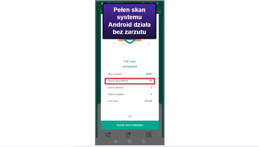 Aplikacja mobilna Kaspersky'ego