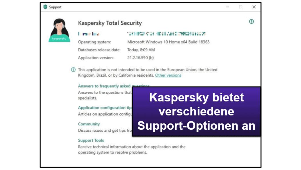 Kaspersky – Kundensupport