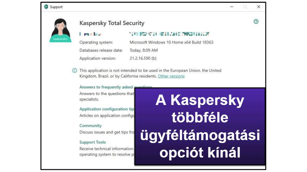 A Kaspersky ügyfélszolgálatáról