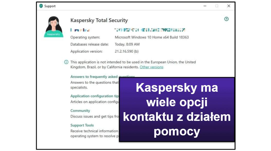 Dział obsługi Kaspersky