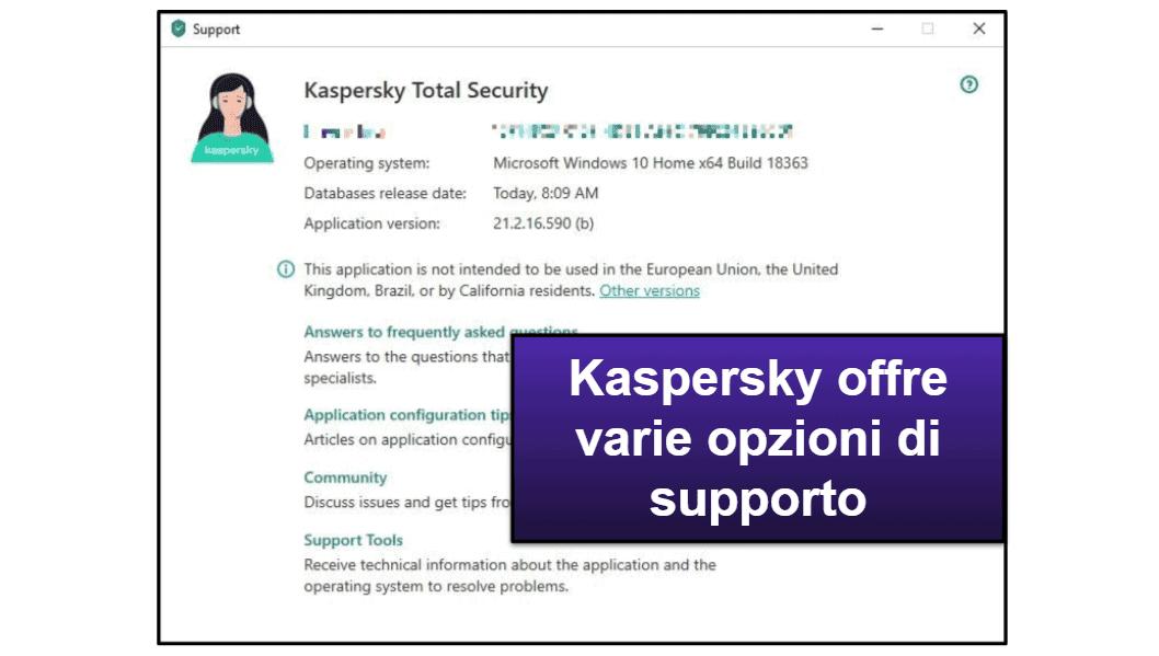 L'assistenza clienti di Kaspersky